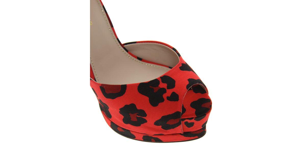 b755869f8f0 KG by Kurt Geiger Red Kg Dizzy Leopard Print Shoes
