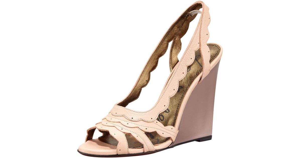 Lanvin Scalloped Slingback Sandals footlocker cheap price 2015 for sale hot sale online hot sale for sale 2bmS9Dl