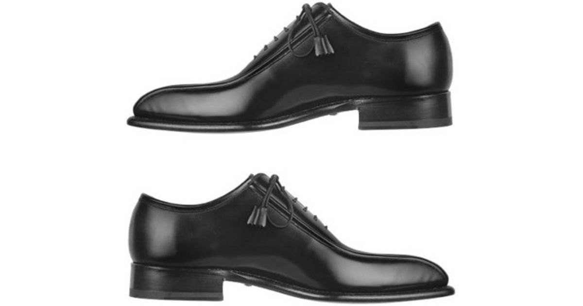 Lyst Forzieri Black Italian Handcrafted Leather Oxford Dress Shoes