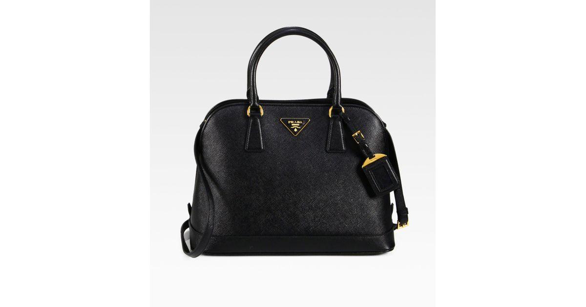 c4652523c ... 50% off lyst prada saffiano promenade open top handle bag in black  e4dc3 2a808