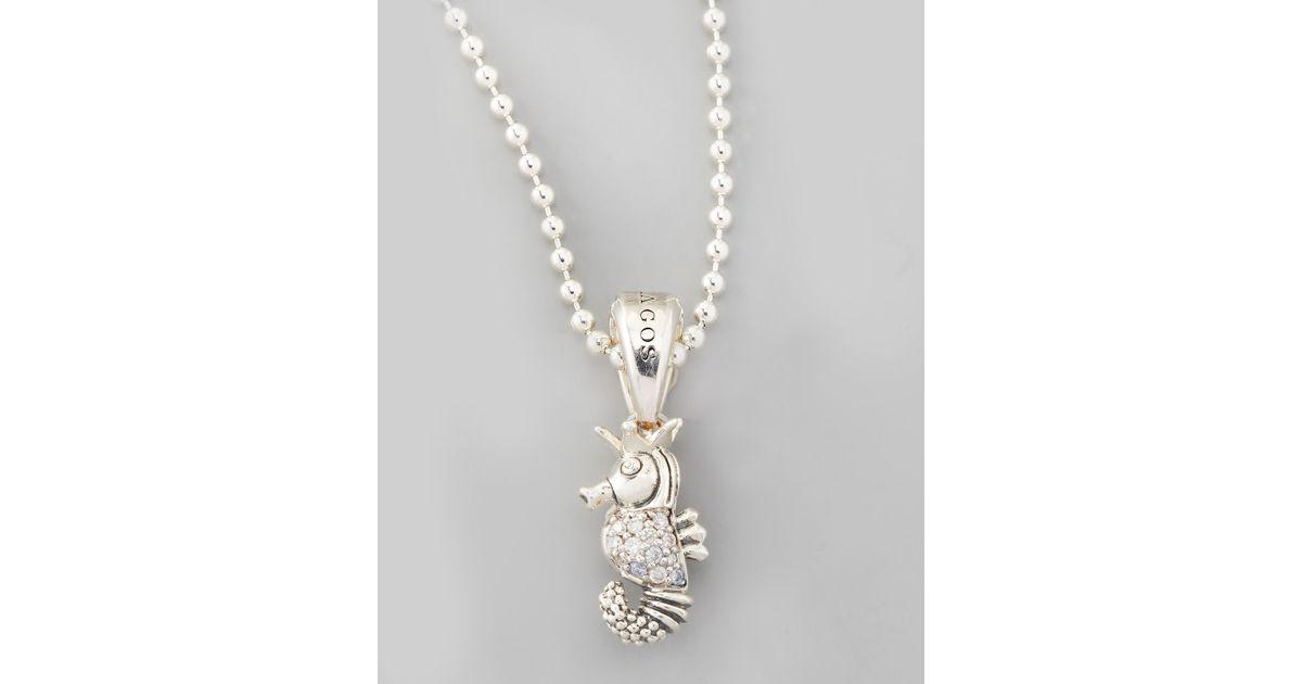Lagos Rare Wonders Owl Pendant Necklace B1lQOXLnt