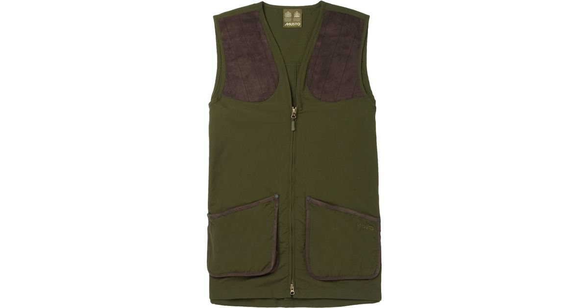 Musto Shooting Clay Shooting Vest In Green For Men Lyst