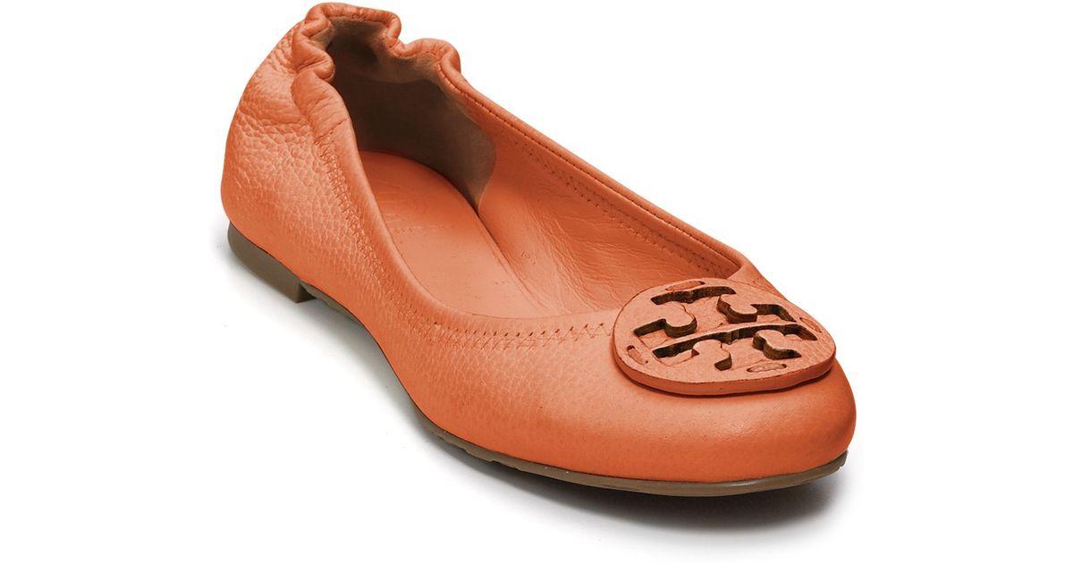 a4fcb8ce4 Lyst - Tory Burch Flats Reva Ballet in Orange