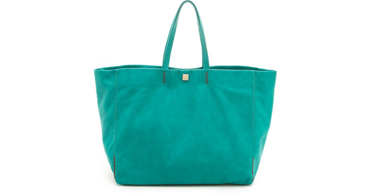 f6c1abd2dc Lyst - M Missoni Large Leather Tote in Green