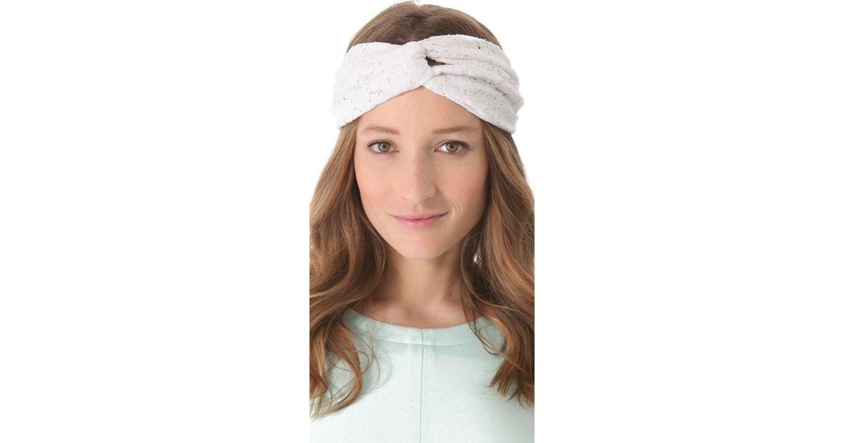 Lyst - Eugenia Kim Genie By Eugenia Kim Penny Lace Turban Headband in  Natural 9c76dd9a21f