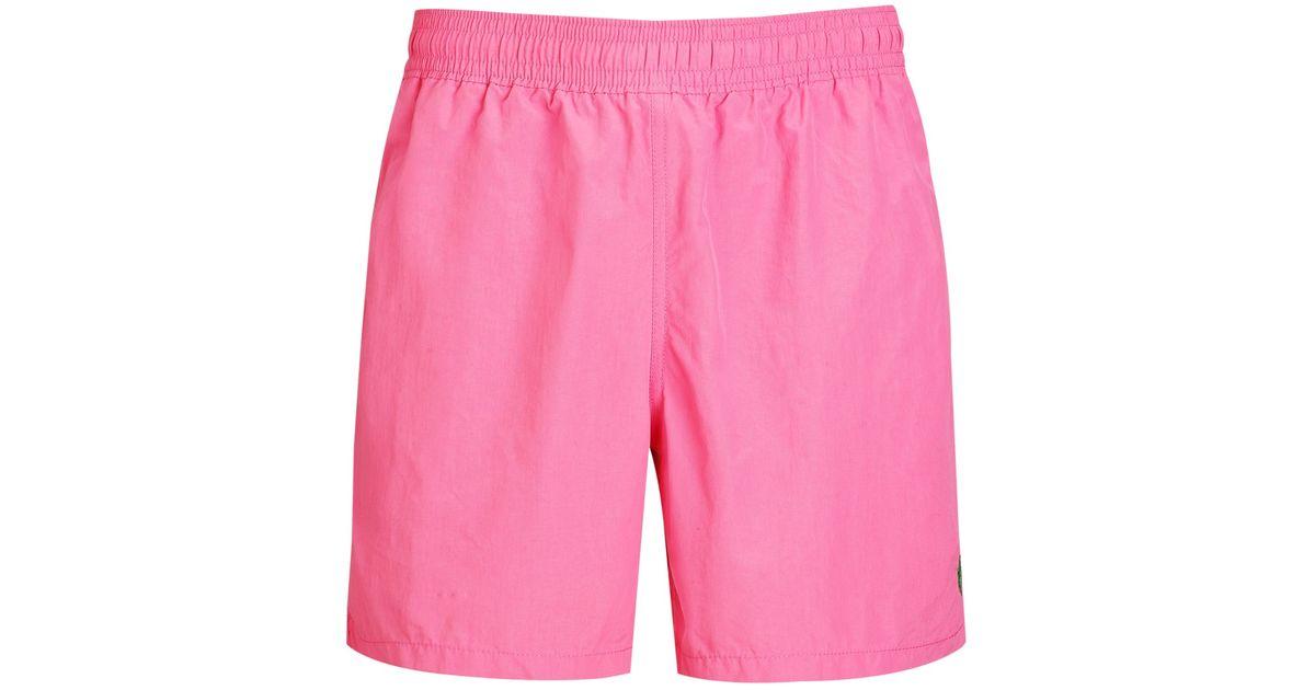 a5bda9fdd5 Polo Ralph Lauren Hawaiian 6 Solid Swim Shorts in Pink for Men - Lyst