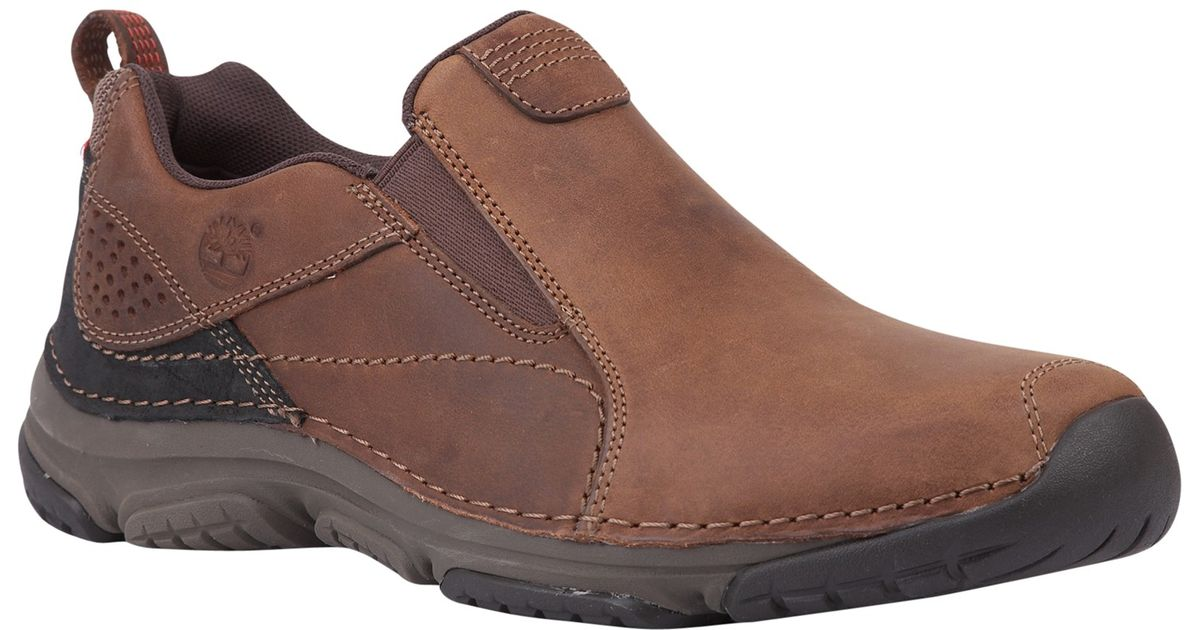 31f07082923f Timberland Front Country Leather Slip On Shoes in Brown for Men - Lyst