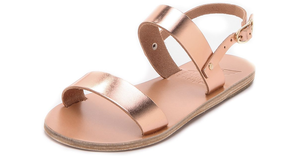 3381ff42f27 Lyst - Ancient Greek Sandals Clio Metallic Sandals in Pink