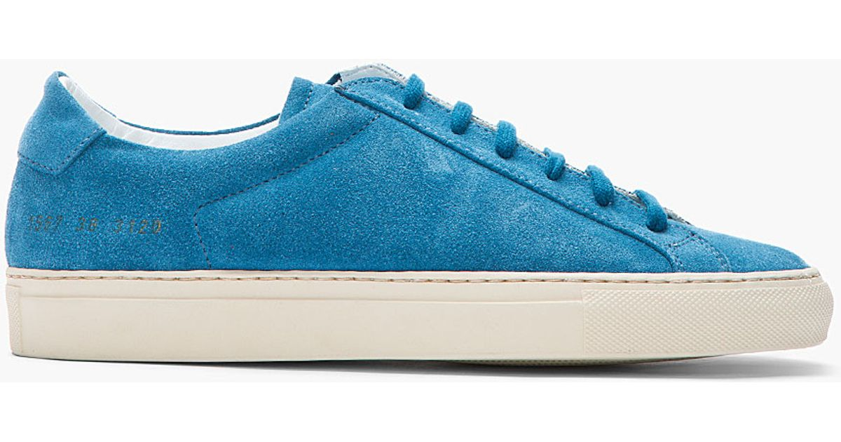 Achilles Men Suede Blue Projects Sneakers For Common qMUVSpz