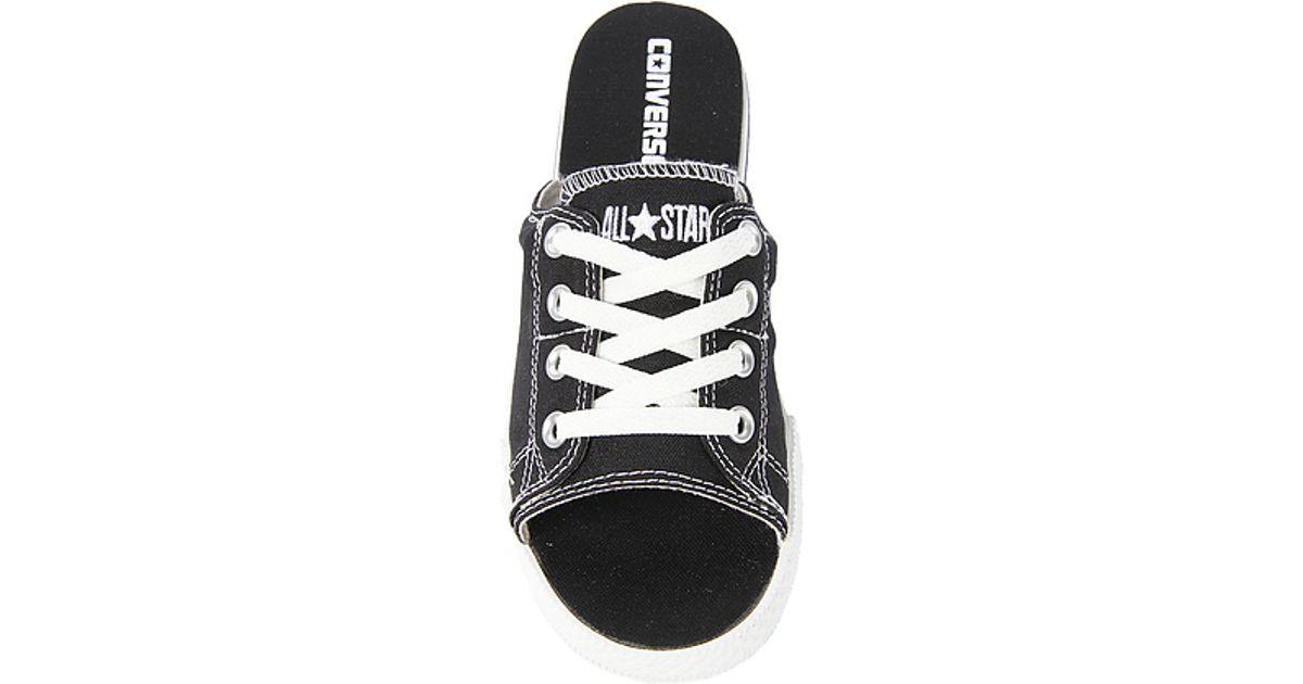 923ae758ff6 Lyst - Converse The Chuck Taylor All Star Cutaway Evo Canvas Sandal in  Black in Black