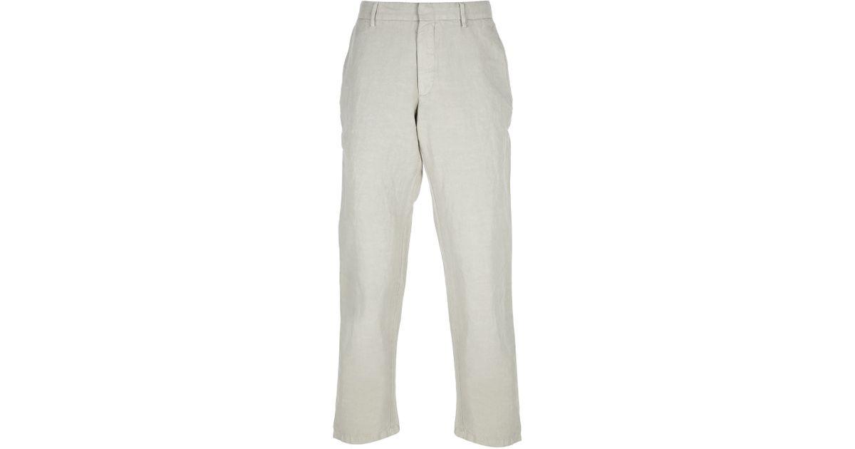 2b8ed9a3d5fdc Ermenegildo Zegna Chino Trouser in Gray for Men - Lyst