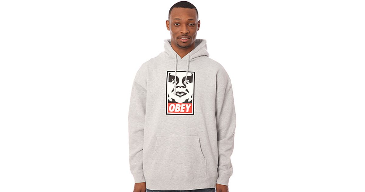 5ad9f066eeae Lyst - Obey The Og Face Sweatshirt in Heather Grey in Gray for Men