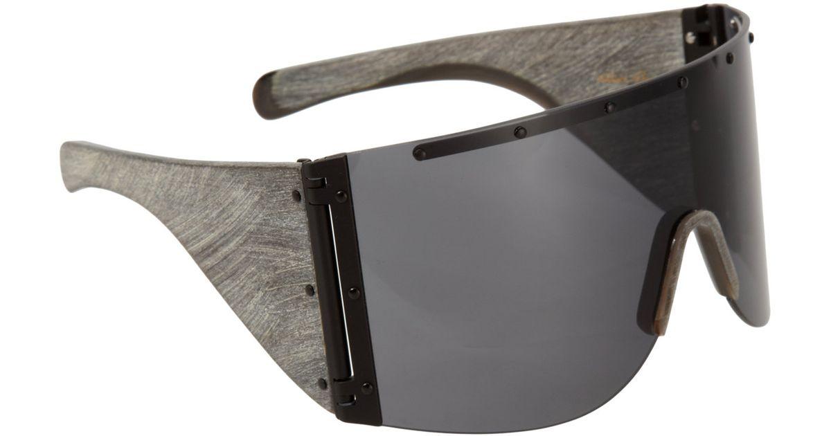 00c18572861d2 Rick Owens Oversized Shield Sunglasses in Black for Men - Lyst