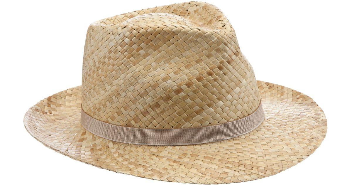 John Lewis Italian Straw Trilby Hat in Natural - Lyst 14d89cb3e006