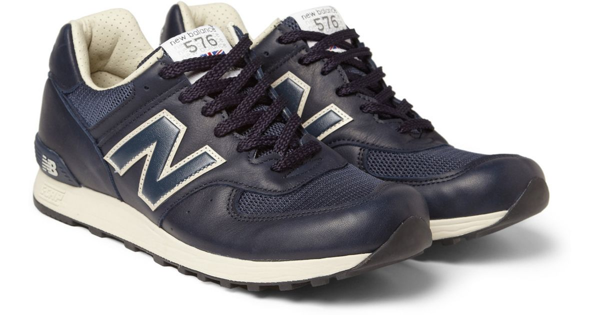 New Balance Blue Leather