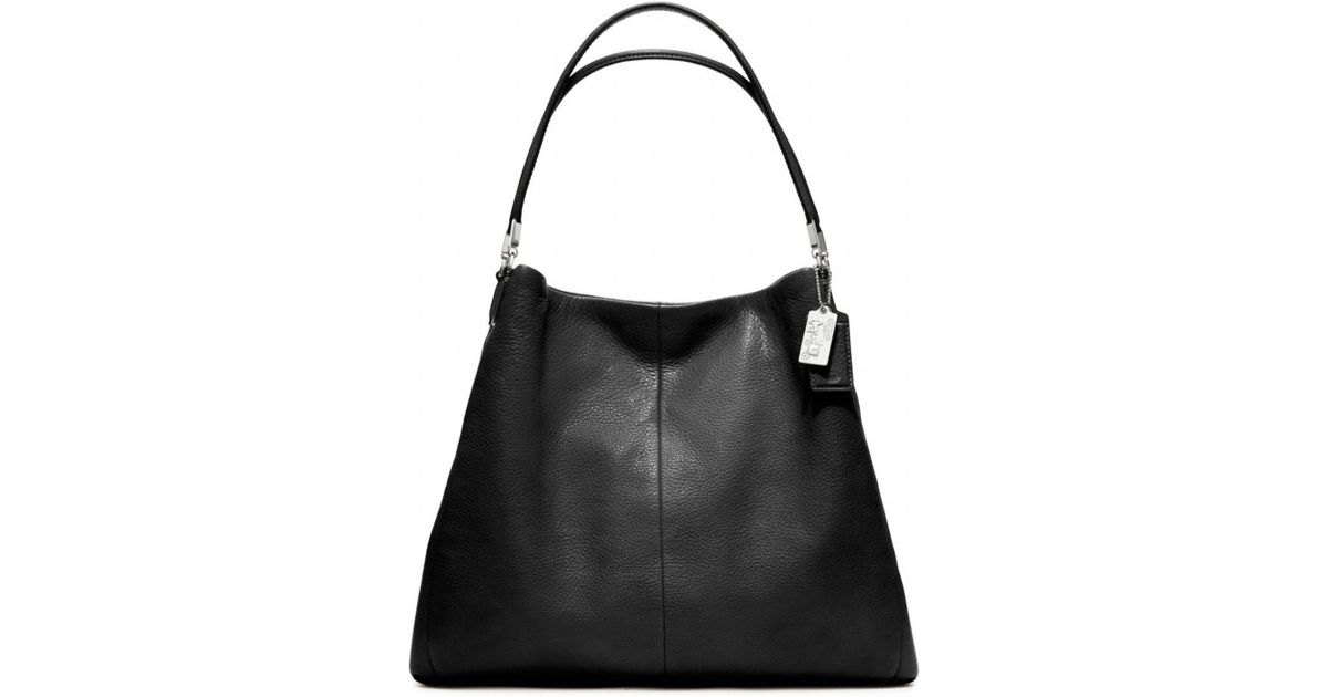 e3ab4c87d2 ... free shipping lyst coach madison leather phoebe shoulder bag in black  110cc 973b8