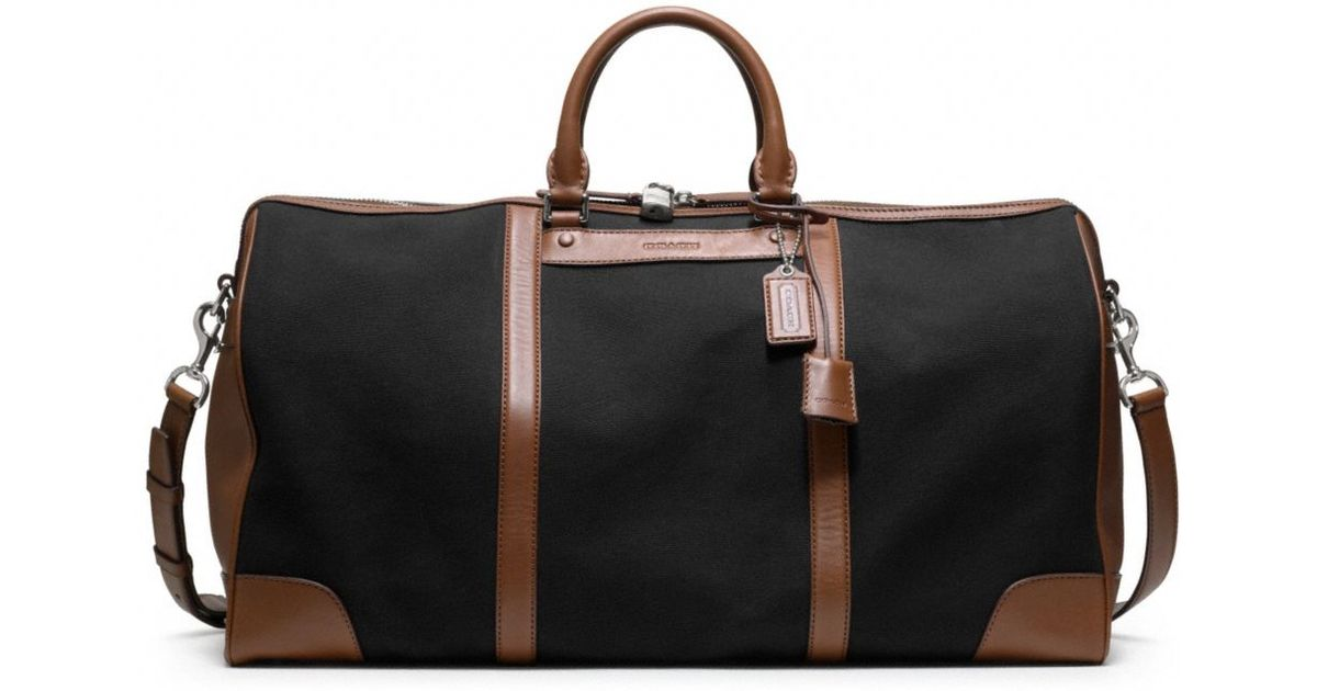 8d9c666f5 ... denmark lyst coach bleecker canvas cabin bag in black for men c2673  fc13c