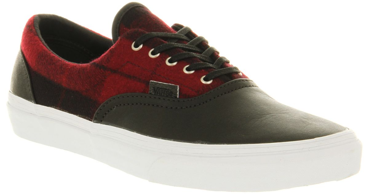 38368b546dbb70 Lyst - Vans Era Ca Flannel Red Black Llt in Red for Men