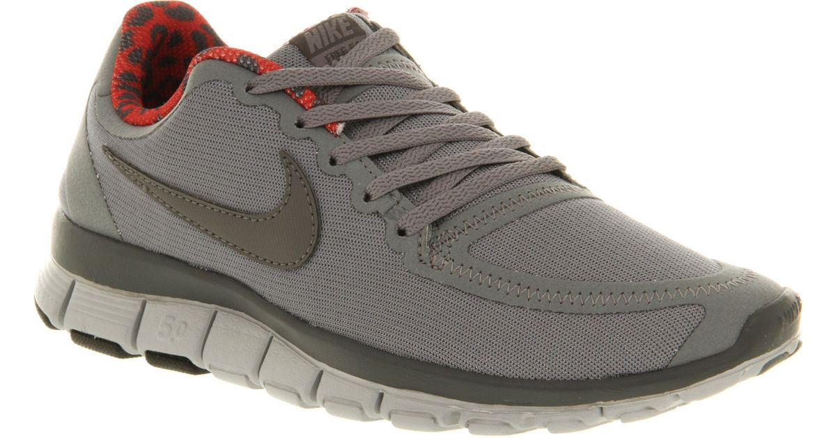 reputable site 5b6a8 7832d Nike Free 50 W Grey Pink Leopard Lining in Gray - Lyst