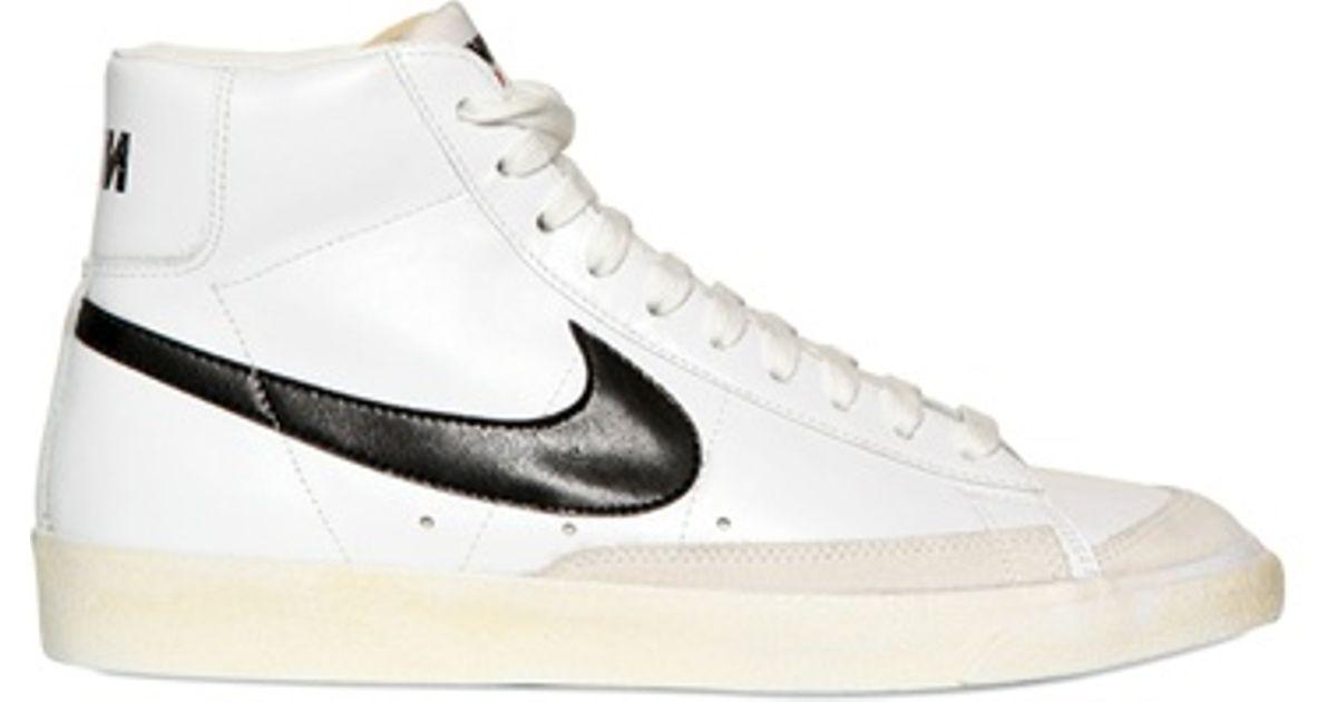 Nike White Blazer Mid 77 Premium Vintage Sneakers for men