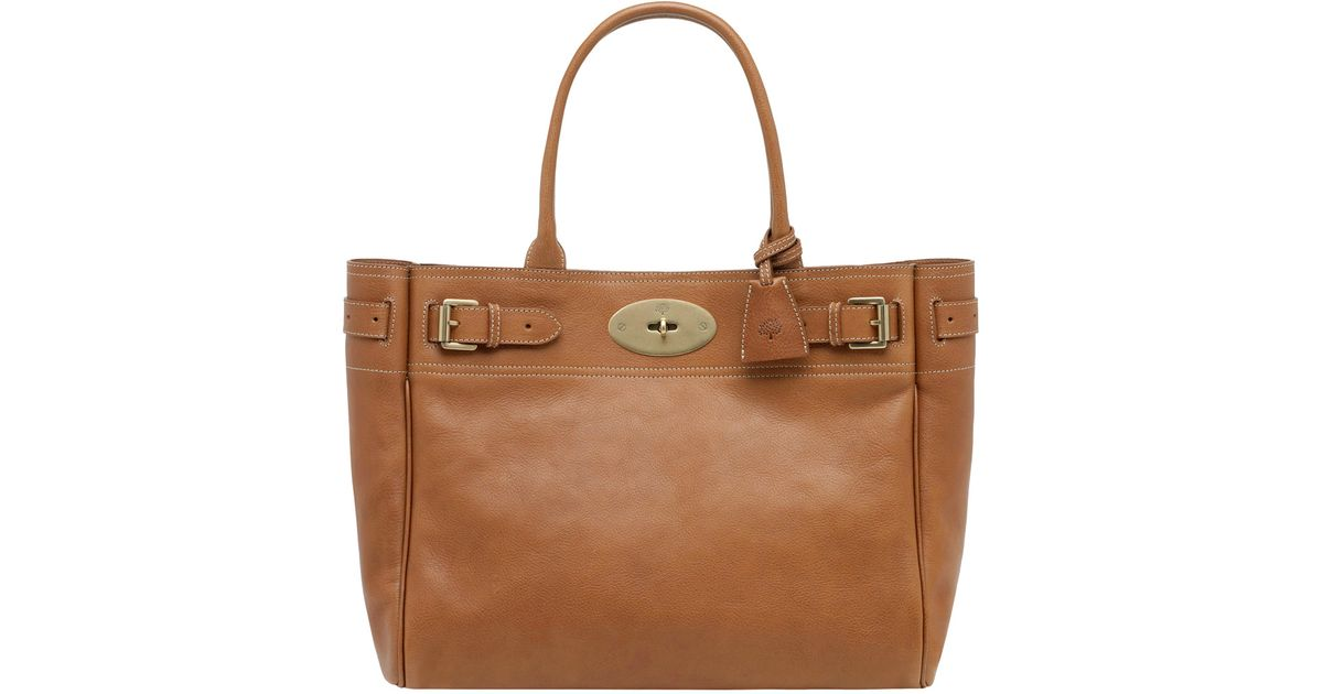 Lyst - Mulberry Bayswater Tote Handbag Tan in Brown 1f02ac62391b1