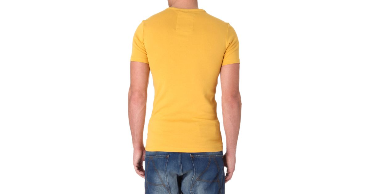 2f8d6b2b14 G-Star RAW Skull Tshirt in Yellow for Men - Lyst
