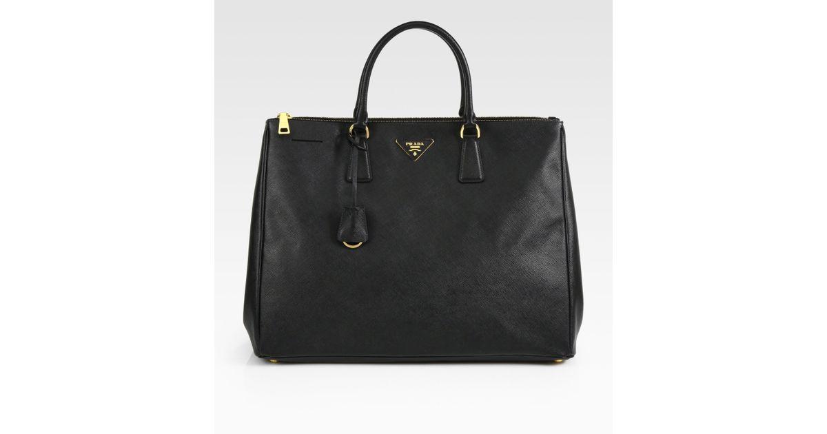 ... coupon code lyst prada large saffiano top handle bag in black 1494c  47241 50693194a8