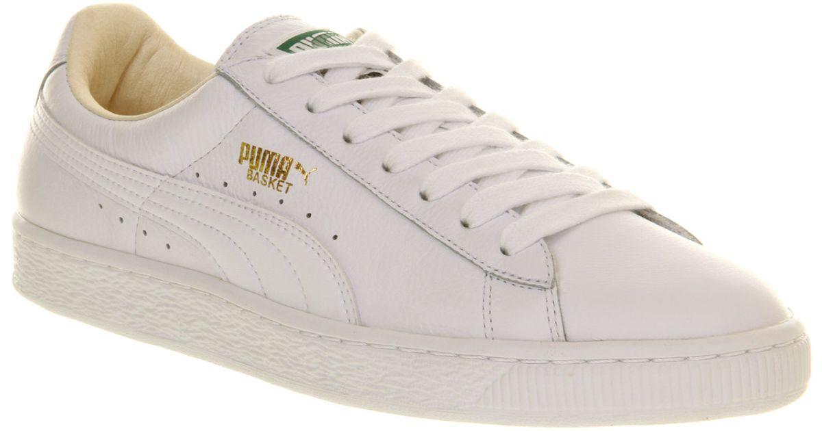 puma classic white