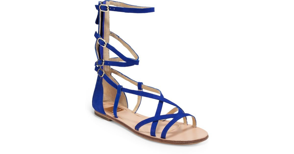 Lyst - Dolce vita Caitlyn Suede Gladiator Sandals in Blue