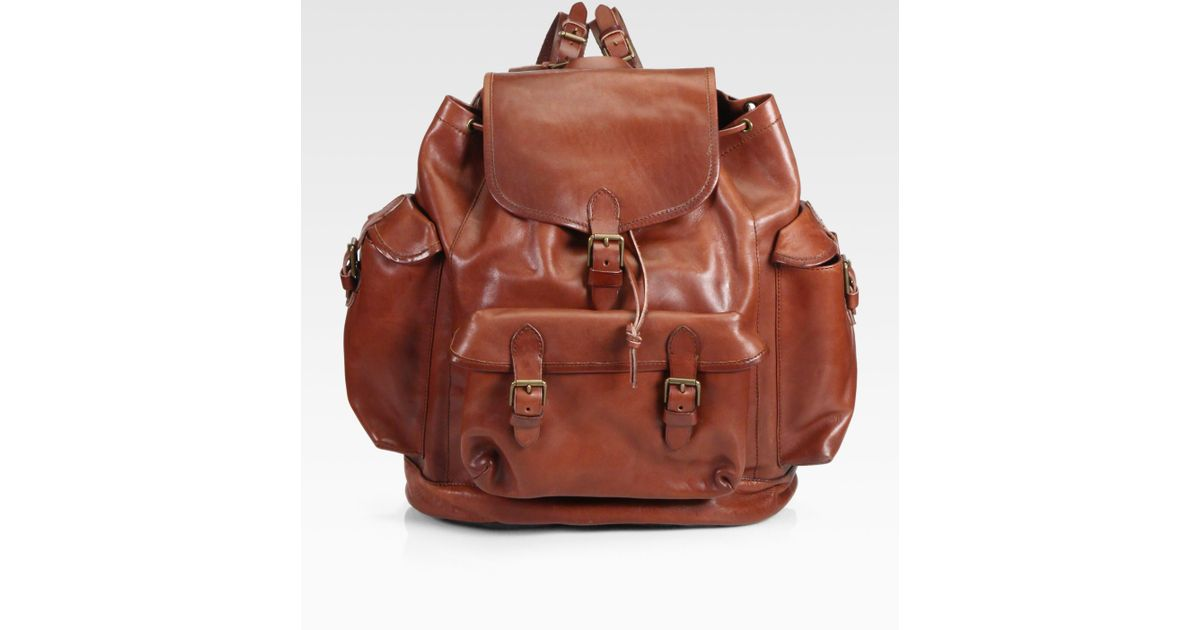 10f18119bf7c Lyst - Polo Ralph Lauren Leather Backpack in Brown for Men