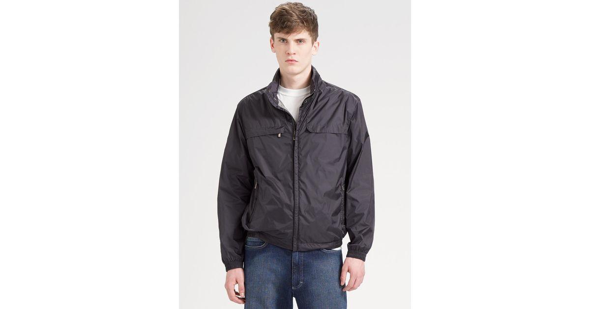 Zegna Sport Light Shell Jacket In Gray For Men Lyst