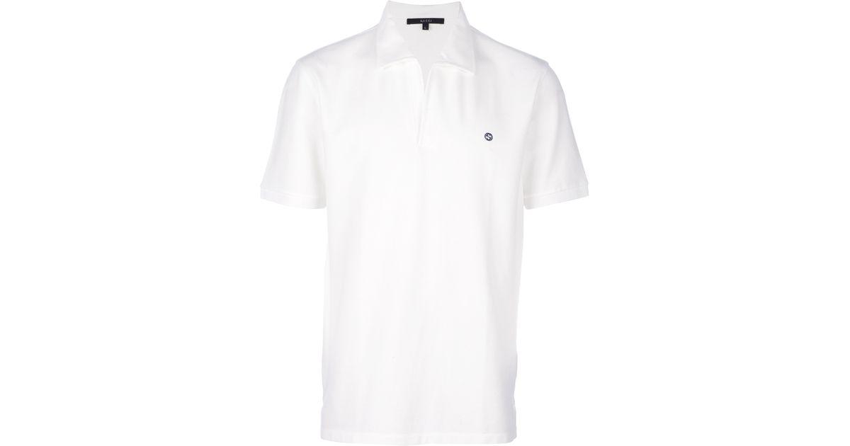 fec71f86f42f Gucci Polo Shirt in White for Men - Lyst