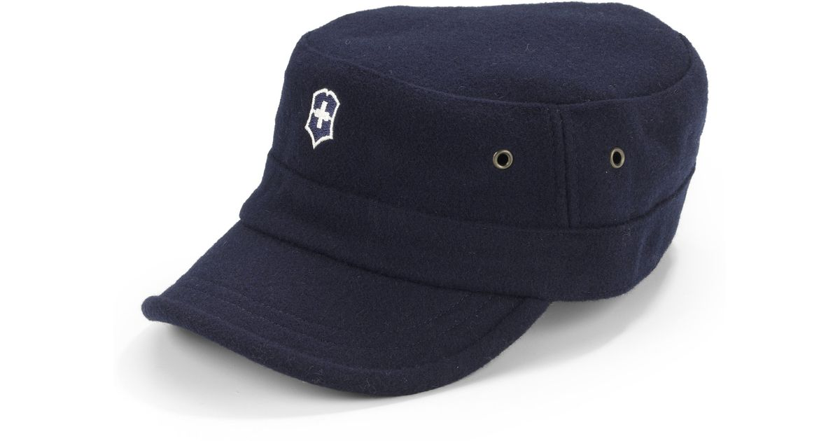 Lyst - Victorinox Wool Blend Felt Cap-navy in Blue for Men 0e2e2826861