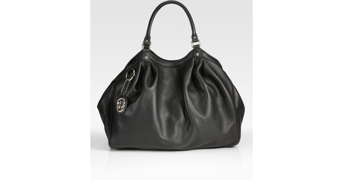 b216609e5bb3 Gucci Sukey Large Tote Bag in Black - Lyst