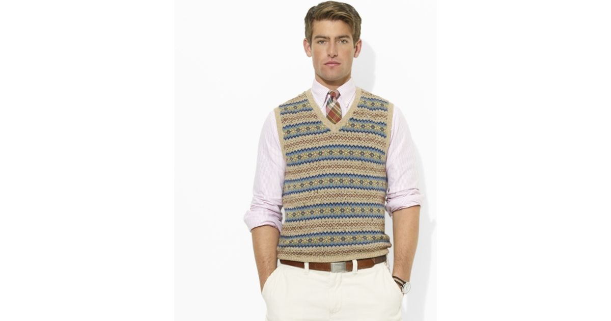 5c9b6c8f Polo Ralph Lauren Multicolor Fair Isle Vest for men