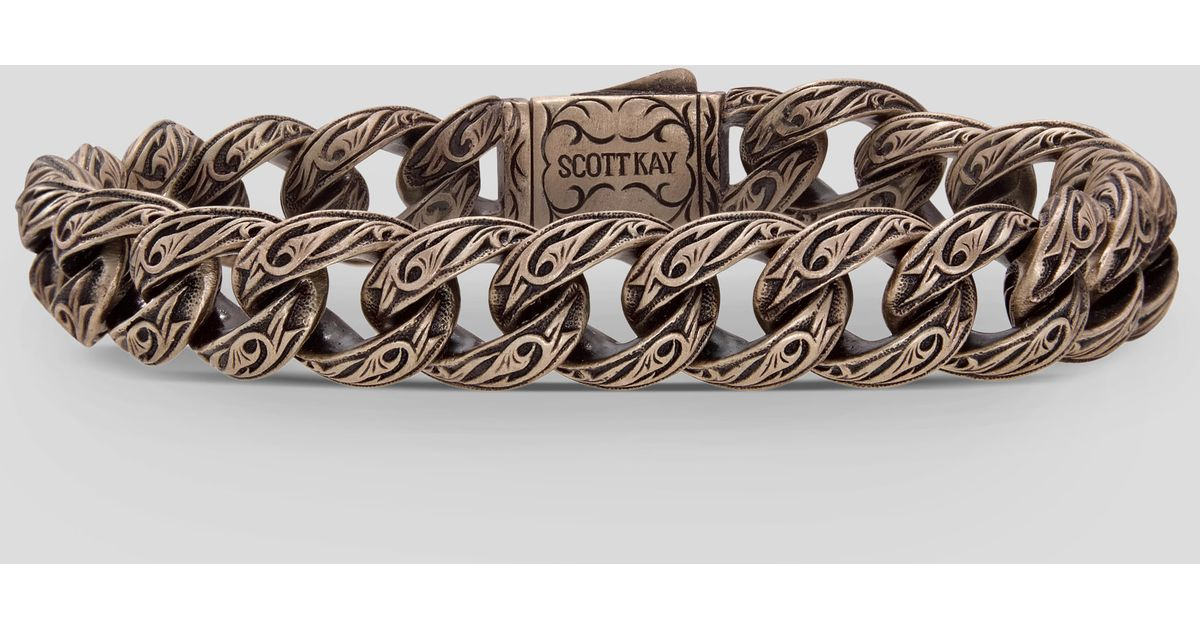 36e949ca399315 Scott Kay Cocoa Adonis Bracelet In Brown For Men Lyst. Scott Kay Sterling  Silver 18kyg Gent ...