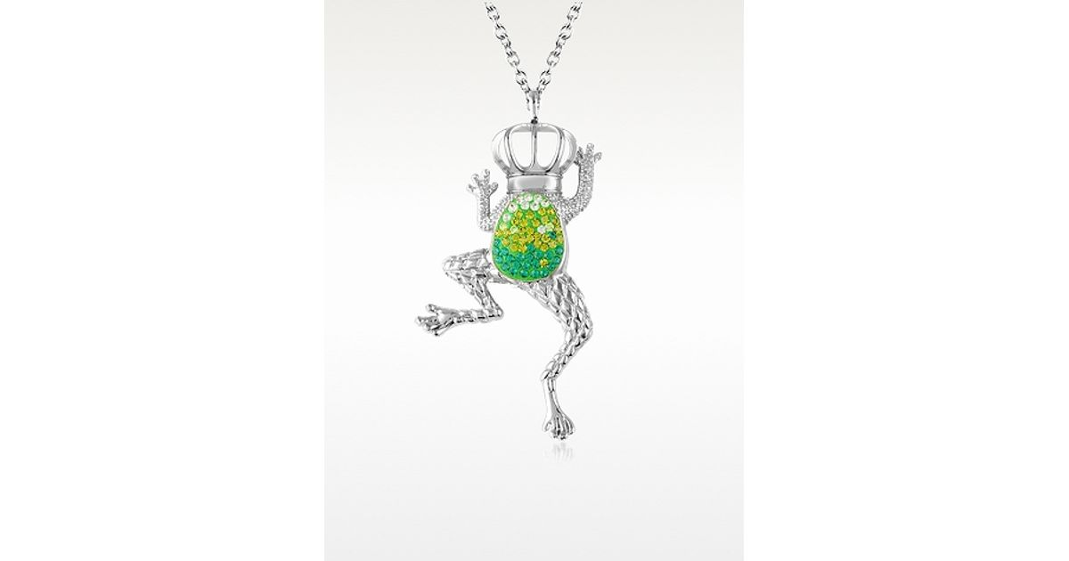 FROG PENDANT ON DOUBLE STRAND GREEN NECKLACE RUBBER