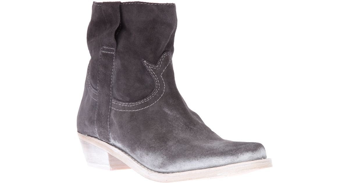 c386c4a3bc7174 Lyst - Sam Edelman Myron Ankle Boot in Gray