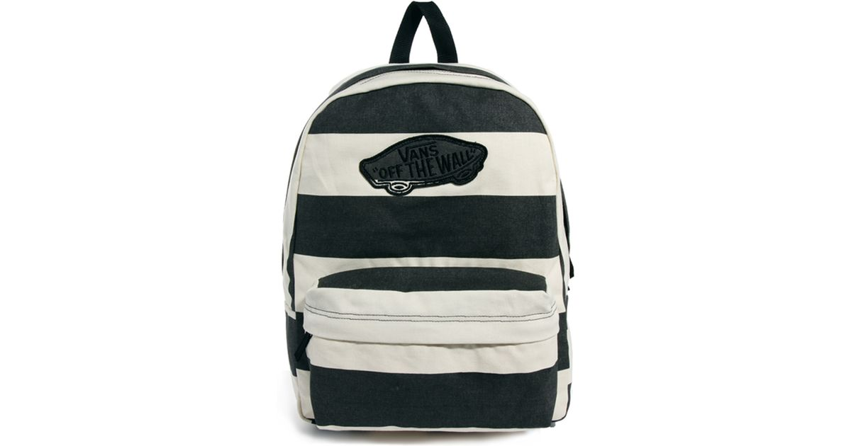 916deee9d2 Lyst - Vans Realm Stripe Backpack in Black