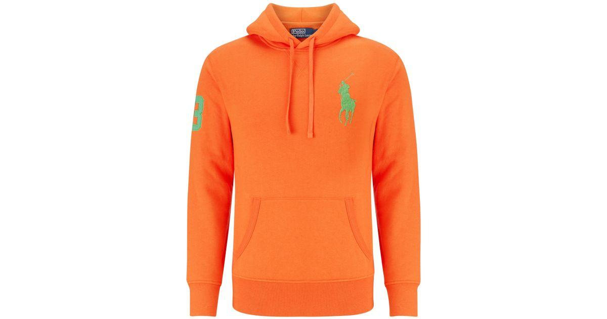 2d0827433 ... norway polo ralph lauren number 3 hoodie in orange for men lyst 8f851  e6b33