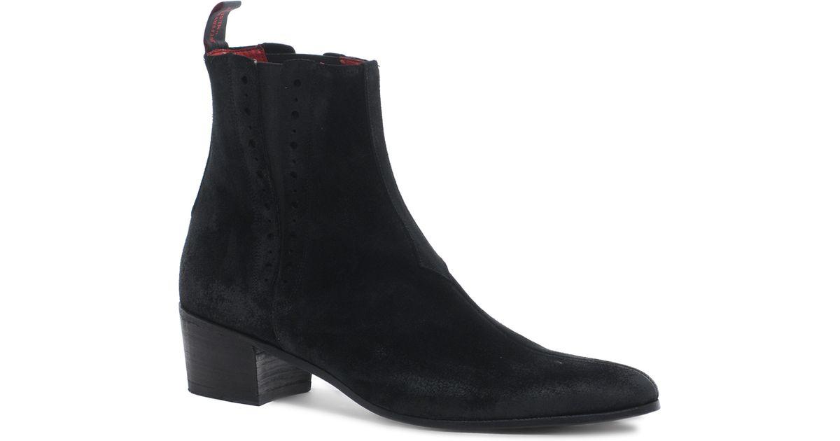 fc29d9cb97e Jeffery West - Black Suede Chelsea Boots for Men - Lyst