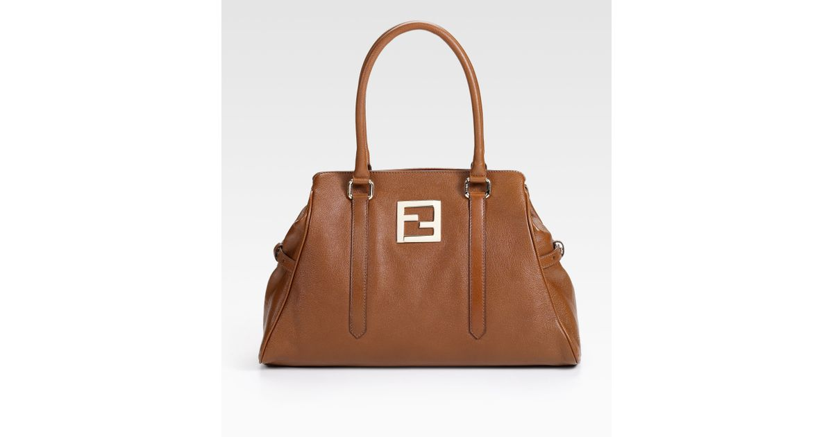 4d86c4ec63ba spain fendi zucca bag de jour 52653 a9b22  canada lyst fendi leather bag de  jour tote in brown 6a80b 9c85a