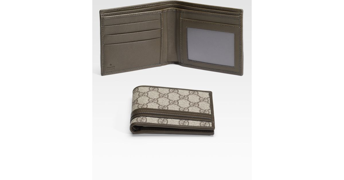 0ac37f458fe6 Gucci Bifold Wallet with Id Window in Natural for Men - Lyst