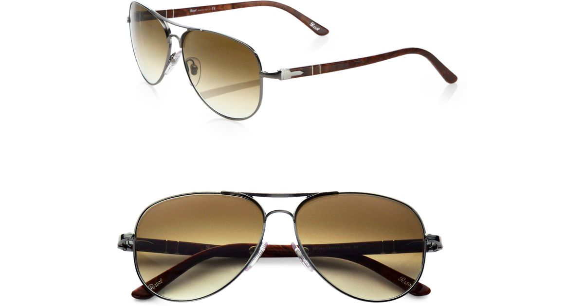 c035e7d86f Persol Classic Aviator Sunglasses in Metallic for Men - Lyst