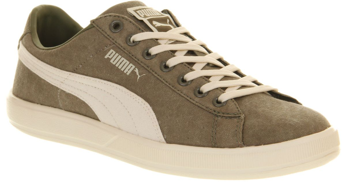 Lite Puma Canvas Burnt Green Washed Whisper Olive For Men White Archive Low dCeroxB