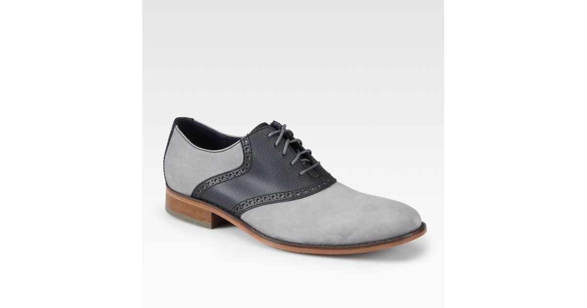 Cole Haan Colton Saddle Shoes in Grey