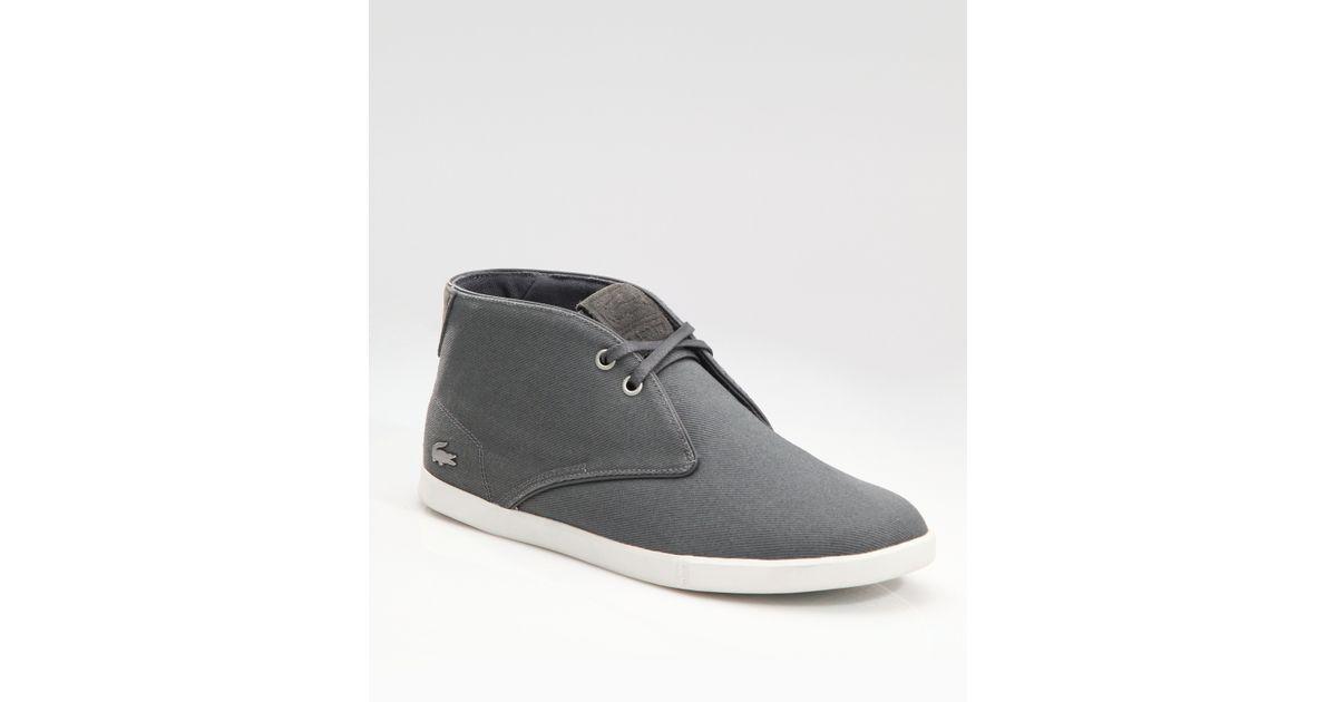 Lacoste Hightop Desert Boots in Grey