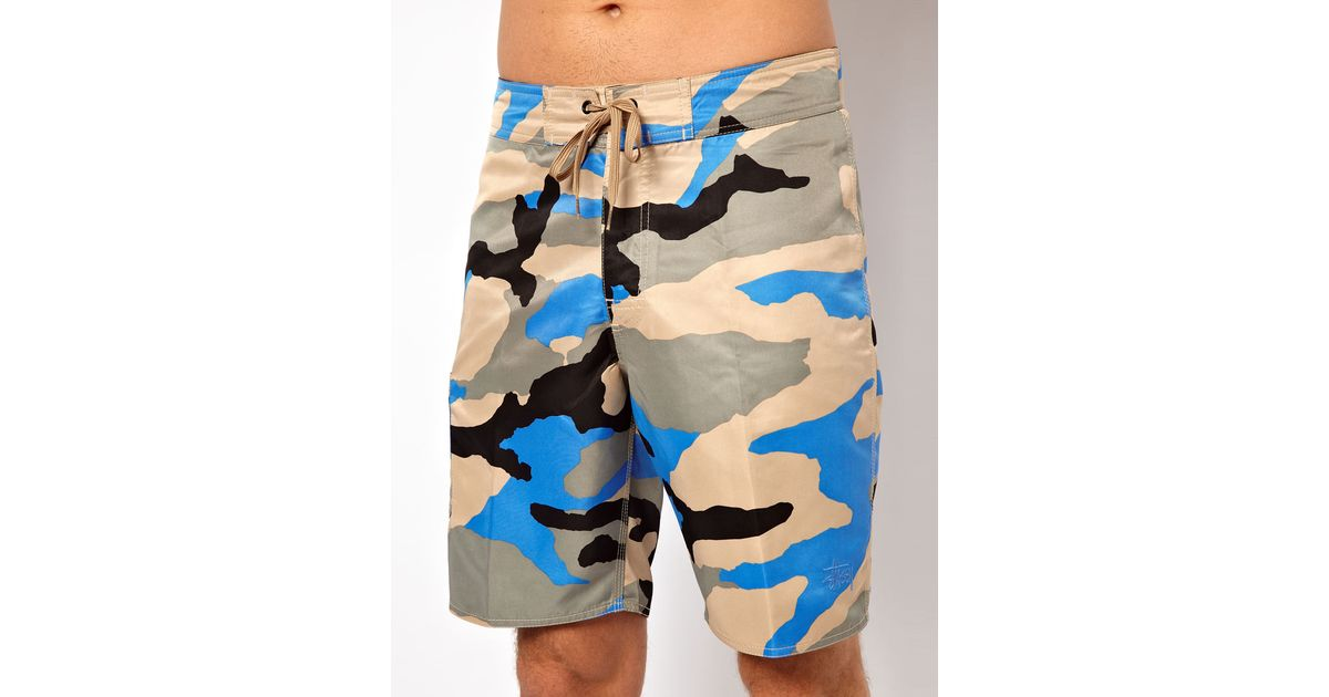 Beach For Shorts Lyst In Blue Camo Stussy Board Men UfAwxw5Rq