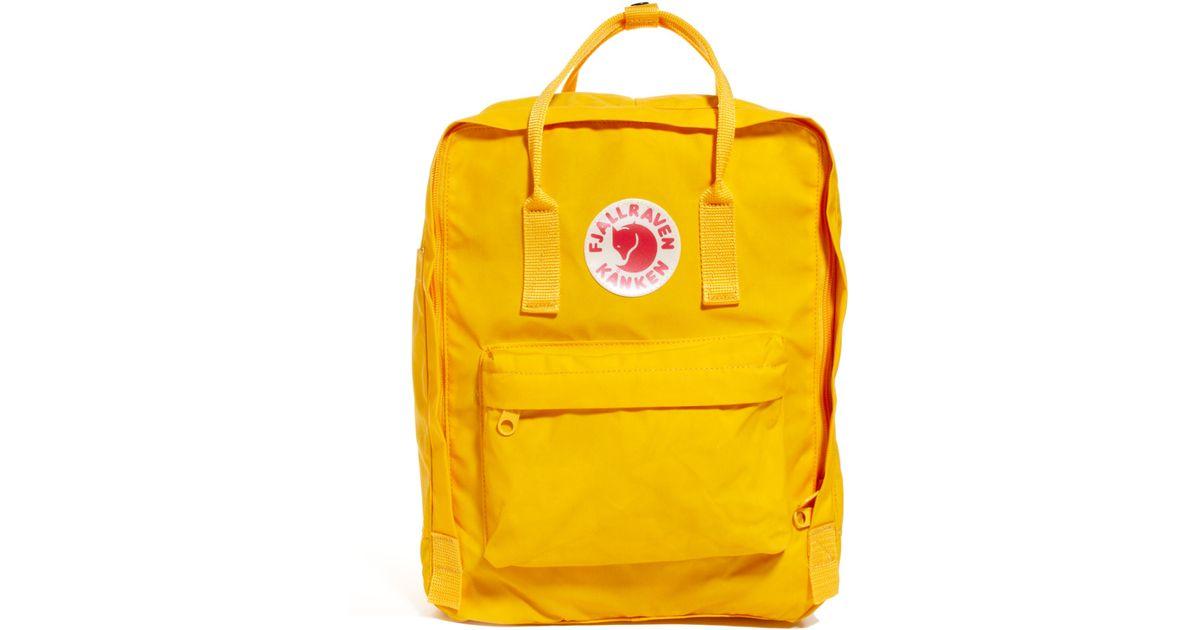 urok kosztów przyjazd 50% zniżki Fjallraven Yellow Kanken Backpack for men