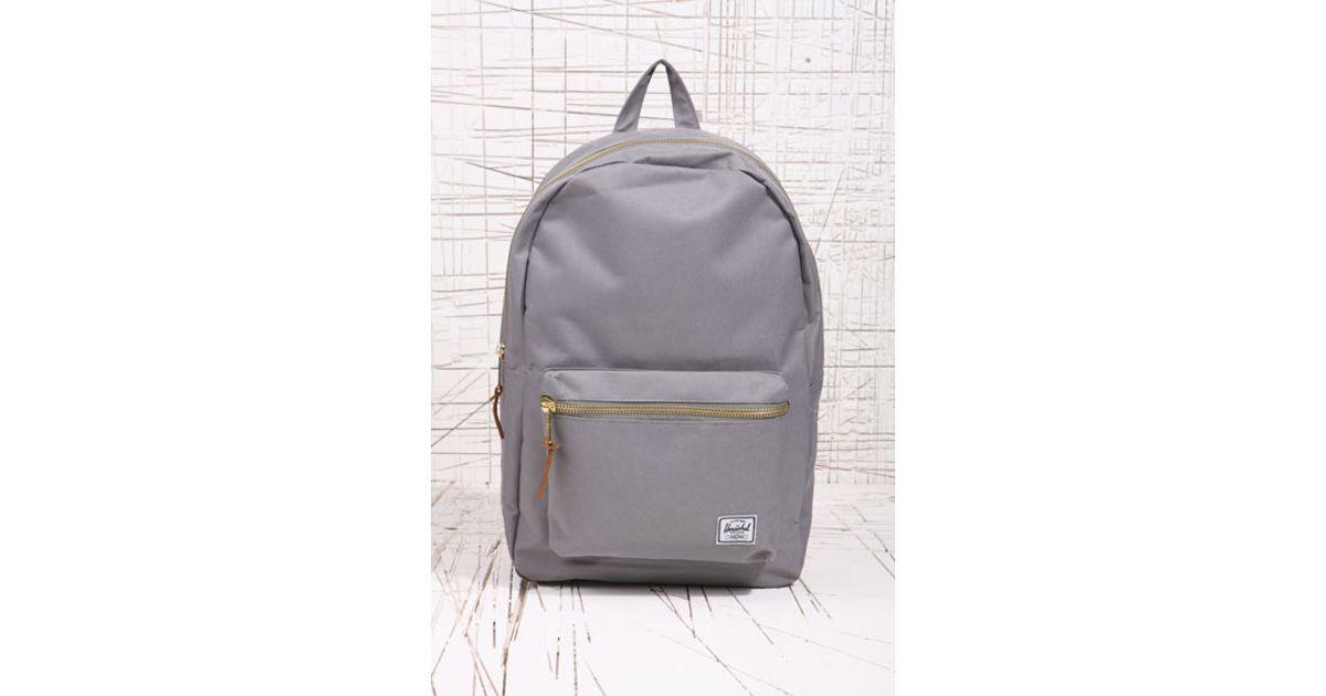 96cc72bcf5 Herschel Supply Co. Gray Herschel Grey Settlement Backpack for men